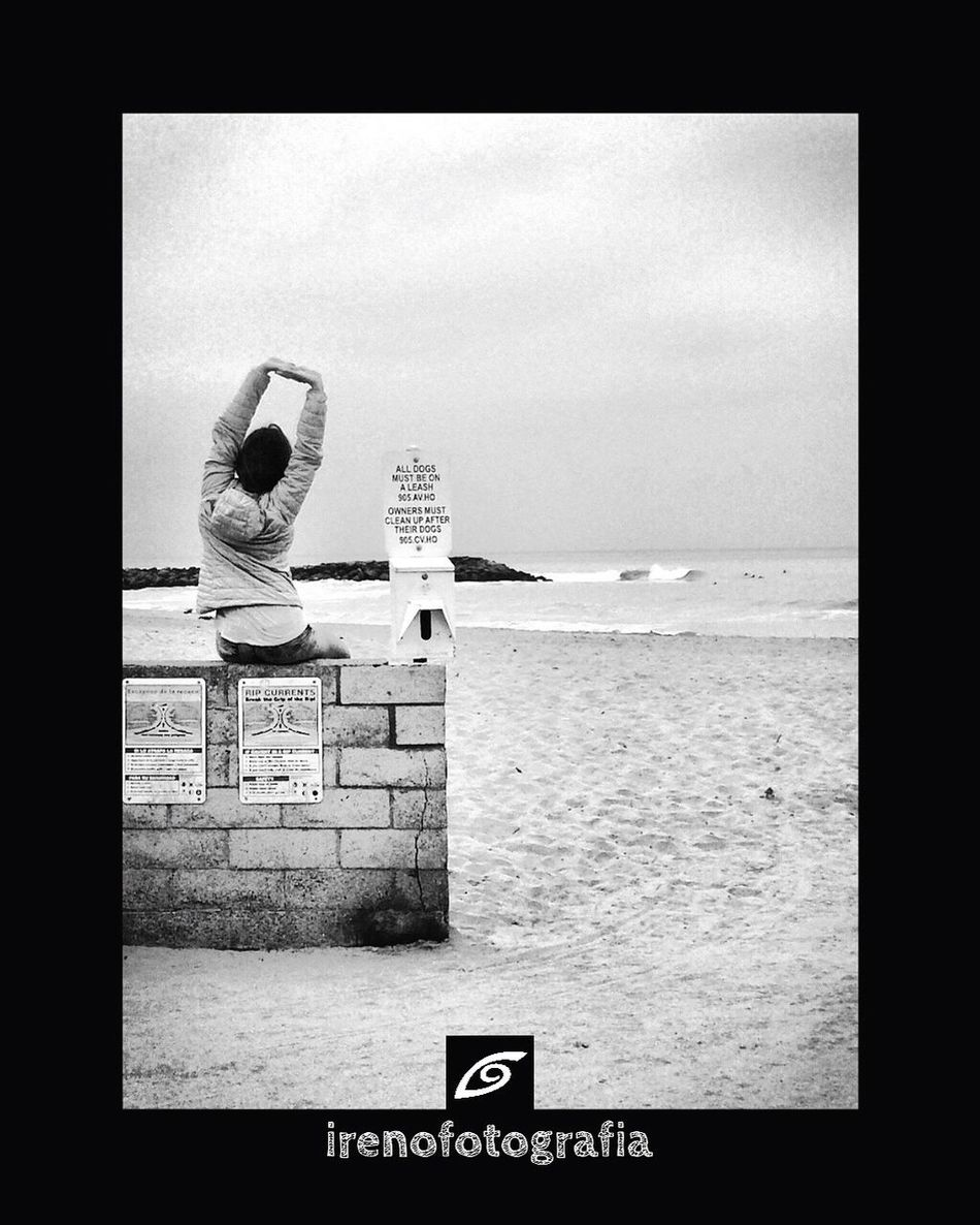 Hello World A.m Session Relaxing Ventura, Ca Blackandwhite Enjoying Nature Life Is A Beach Surfing Street Photography Taking Photos Fresh Air Stretching Cutelady Pacific Ocean Peace And Quiet Peace ✌