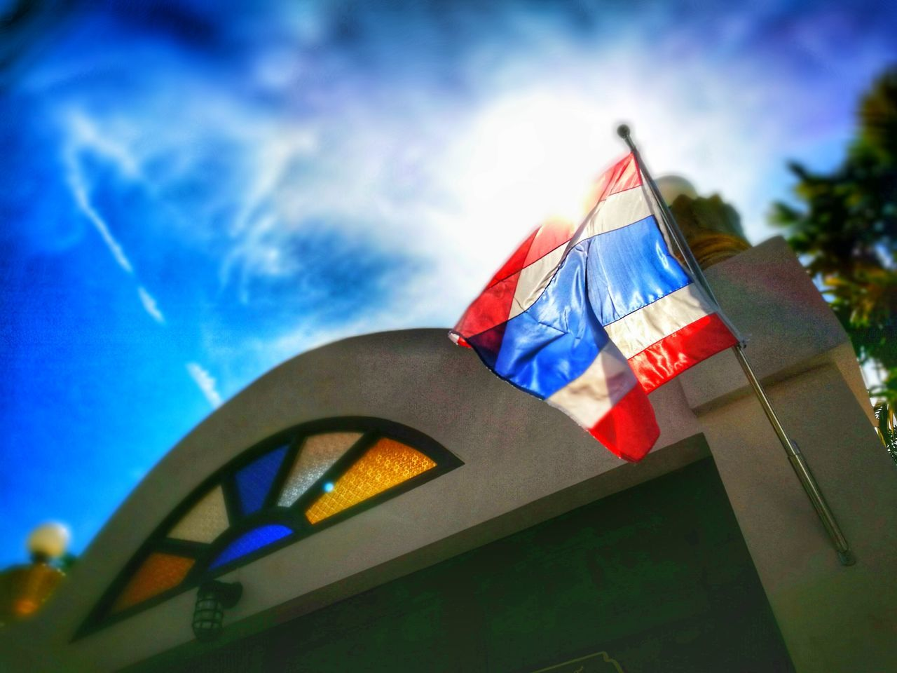 Flag of our fathers Thailand Flag Flags In The Wind  Sky And Clouds Tricolor ThailandFlag