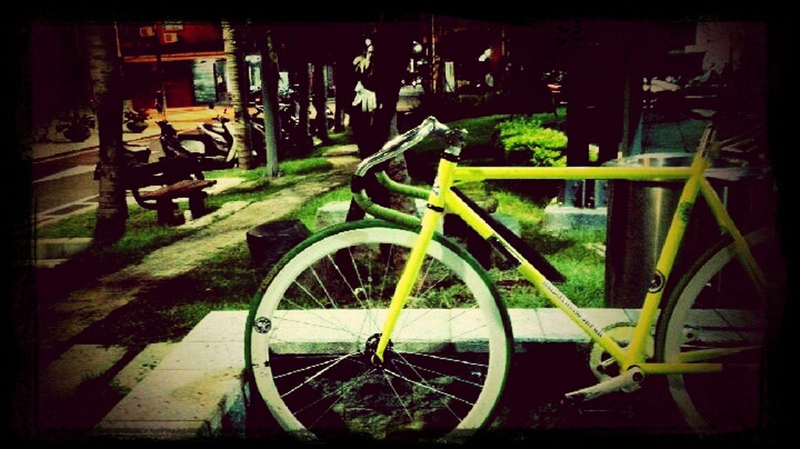 等一個人,單車. Enjoying Life Waiting