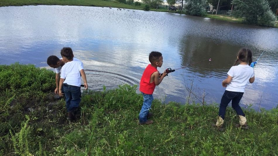 Casting Lines Fun In The Sun... Life Is Bliss these young kids caught 8 catfish and 1 bass and 1 turtle....wouldnt trade my fishin Saturdays with this crew for anything.... Love My Family ❤ My Life My Loves The Great Outdoors - 2016 EyeEm Awards
