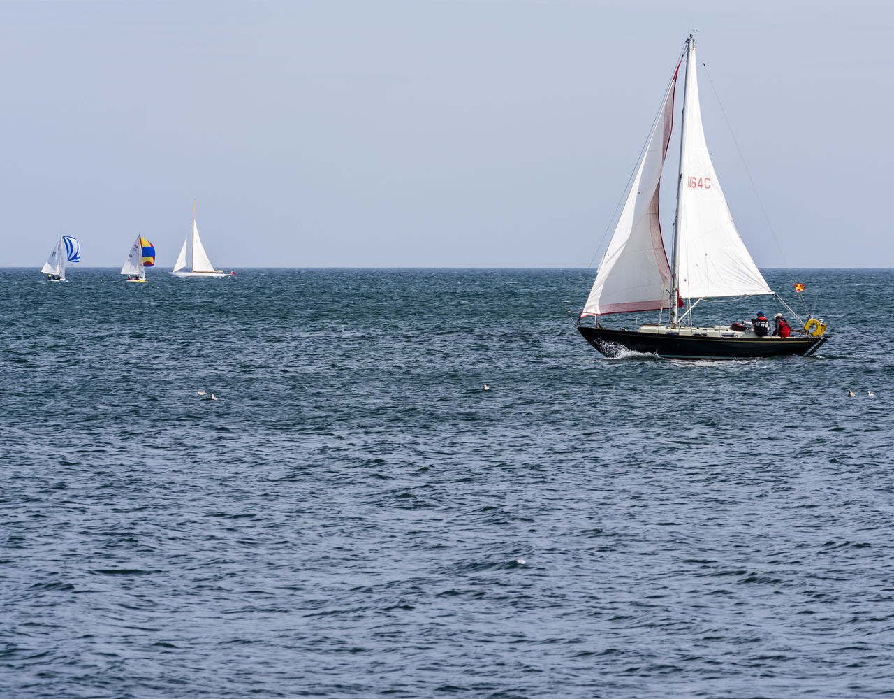 Beautiful stock photos of leinwand, sea, water, nautical vessel, mode of transport