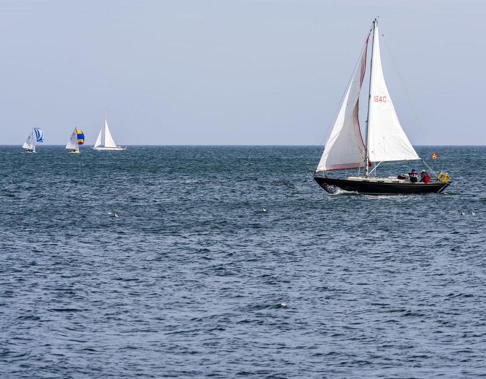Beautiful stock photos of leinwand, sea, water, nautical vessel, mode of transport