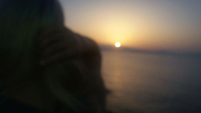 Sunset Sun Nature Sea Summer Outdoors Crete Holiday Sky Person