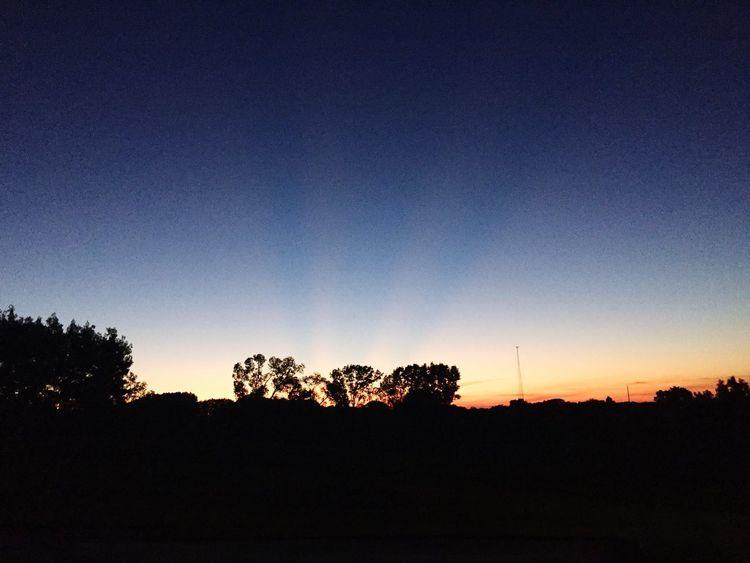 WisconsinSunset Ray Of Light Beautiful Sunset
