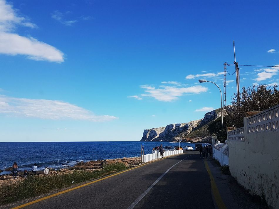 Sea Sky Cloud - Sky Outdoors Water Road Beach Day Blue No People Horizon Over Water Nature Alicante Denia SPAIN