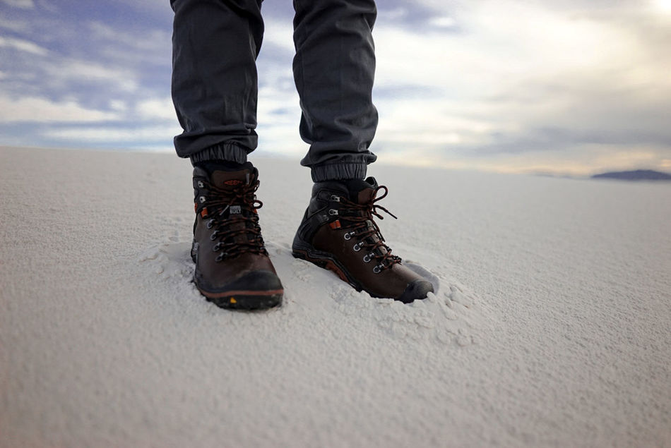 People And Places White Sands National Monument Low Section Standing Person Sky Sand Solitude Footpath Tranquility Tranquil Scene Remote Keen Keenfootwear