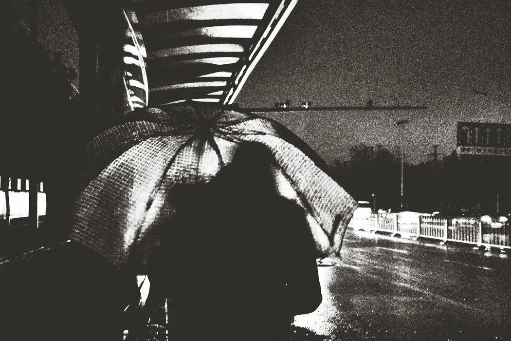 Blackandwhite Rainning Day Shadow Streerart