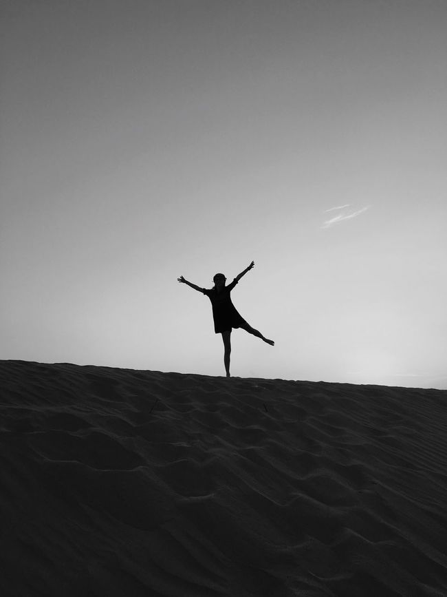 Soul has its own colours! Monochrome Photography Sand Dune Freedom Desert Silhouette