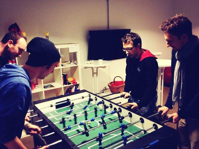 Foosball with Buddies :)