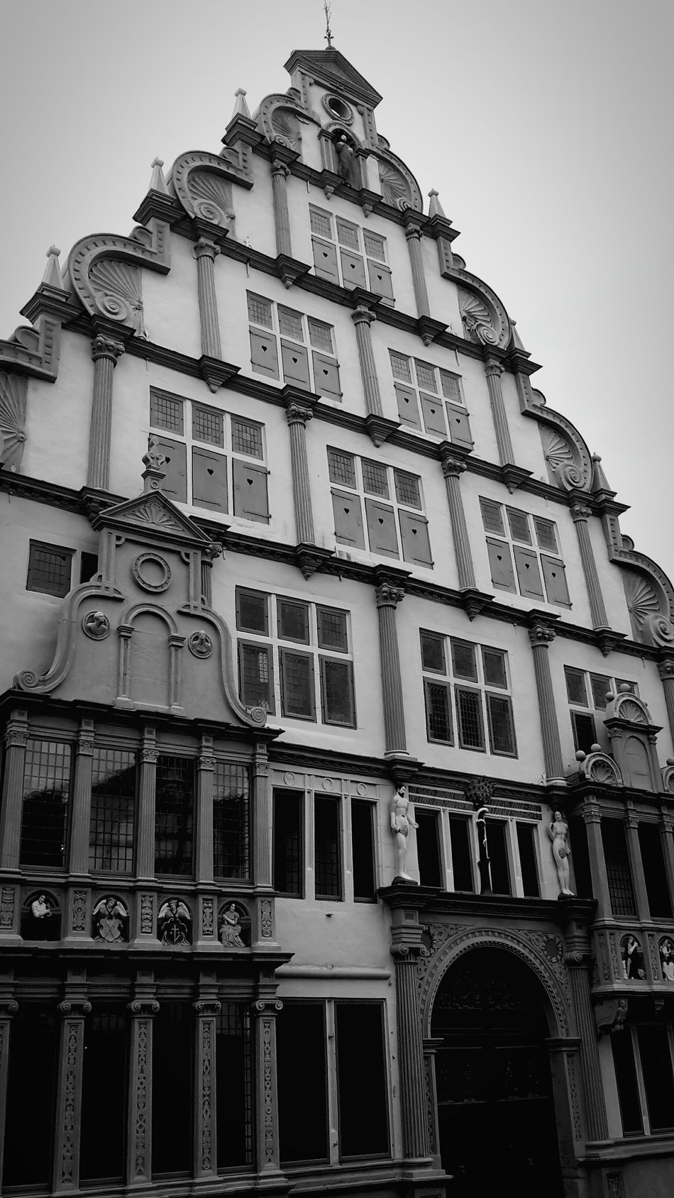 Architecture Travel Destinations History Building Exterior Travel Built Structure City House Low Angle View No People Outdoors Vacations Sky Day Lemgo Hexenbürgermeisterhaus