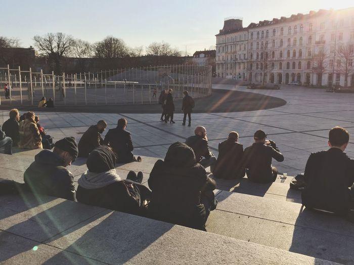 Chilling Relaxing Copenhagen, Denmark Square Public Square Public Places Basketball Sundowner