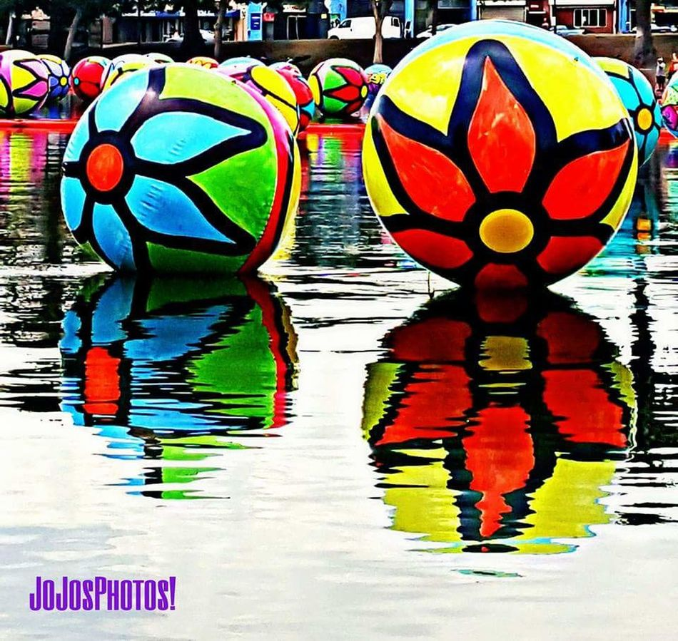 Multi Colored Vibrant Color Colorful Water Creativity Large Group Of Objects Tranquility