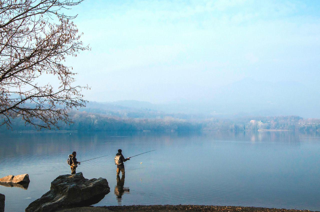 Beautiful stock photos of fishing, Avigliana, Beauty In Nature, Day, Fishing