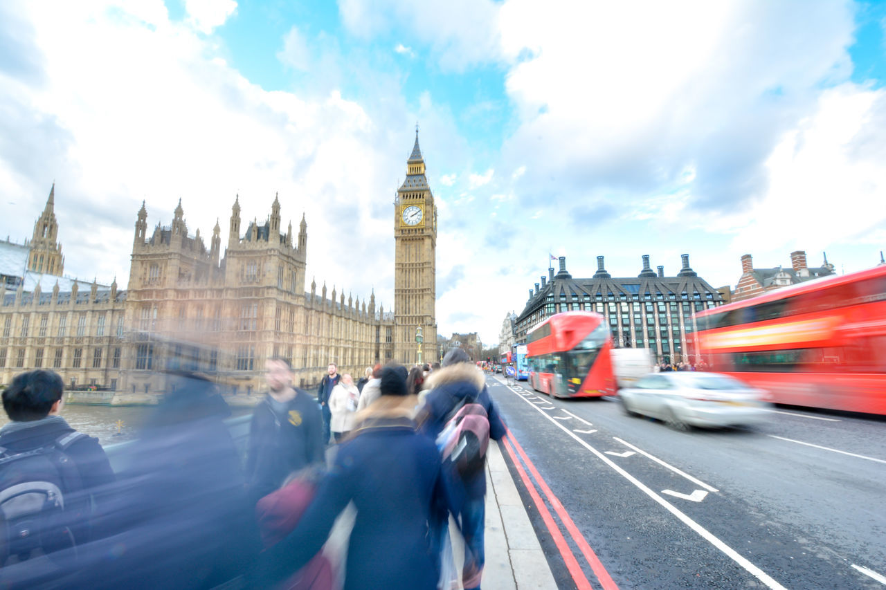 Architecture Big Ben Britain City City Life Clock Tower London London Lifestyle London_only Londonlife Londres Outdoors People Sky And Clouds Streetphotography Tourism Travel Destinations United Kingdom Westminster Bridge