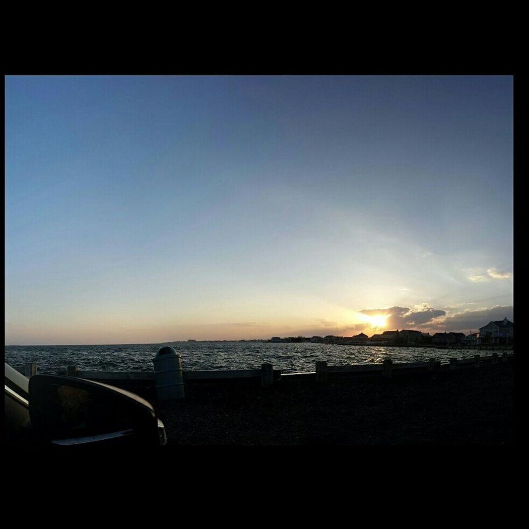 Beautiful sunset Relaxing Enjoying The Sun Fresh Air