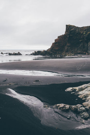 Beach Black Sand Black Sand Beach Coast Europe Iceland Landscape Nature Nature Photography Rock Shore Travel Water