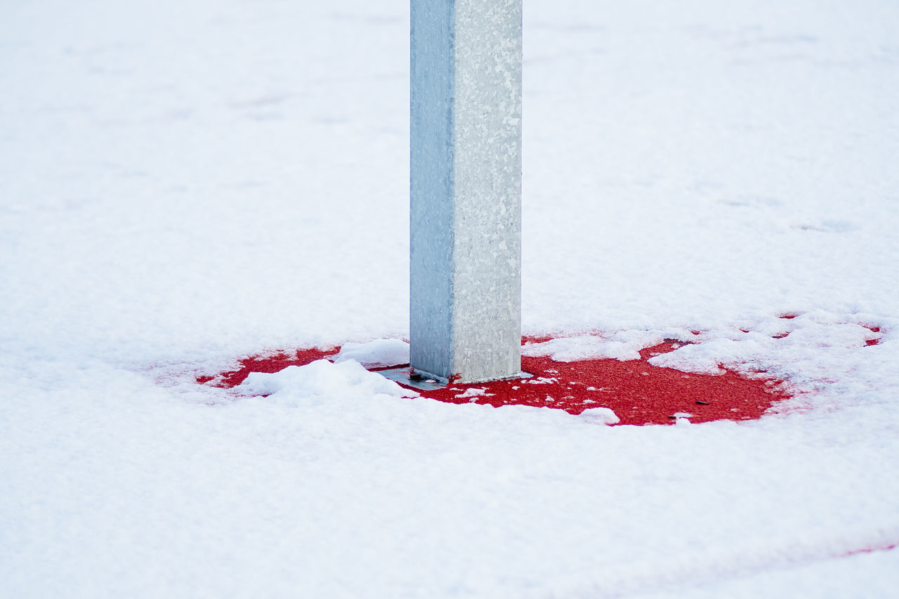 Red Close-up Cold Temperature Day Nature No People Outdoors Red Snow Winter