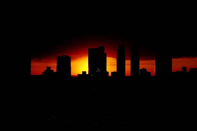 Sunset Sunset Silhouettes Architecture Urban Landscape Skyline Silhouette Open Edit