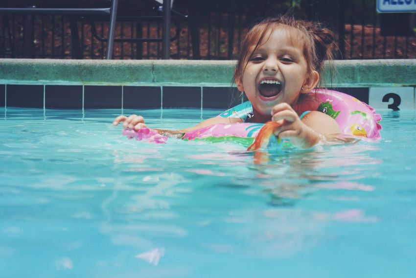 Kid Little Girl Little Littlegirl Child Children Childhood Girl Life Happy Happiness Happy People Silly Daughter Toddler  Cute Swim Swimming Swimming Pool Summer Summertime Kids Adorable The Portraitist - 2016 EyeEm Awards The Essence Of Summer