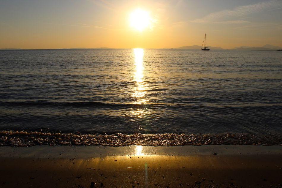 Sunset Cabasson Beach Sunset Sea