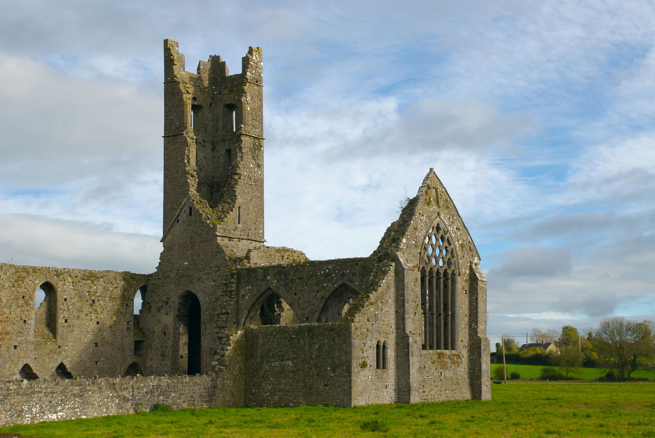 Kilmallock Abbey a 13th-century Dominican Friary in the town of Kilmallock, Limerick Ireland Abbey Architecture Built Structure Day Golden Vale Grass History Ireland Kilmallock Kilmallock Abbey Limerick No People Outdoors Place Of Worship Sky