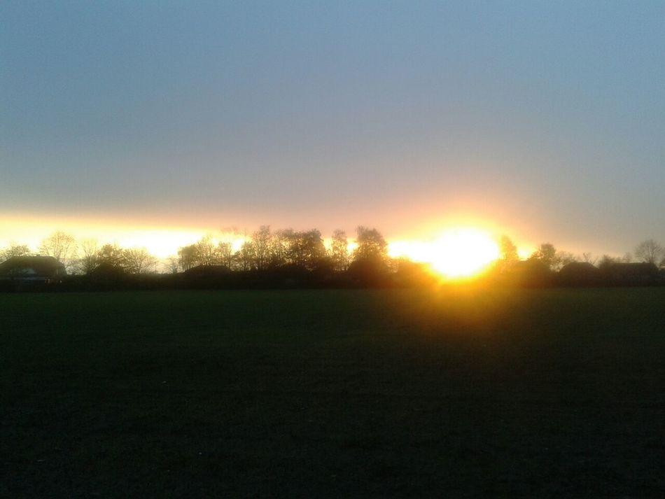 Sonnenaufgang über Altenberge - Haren_Ems