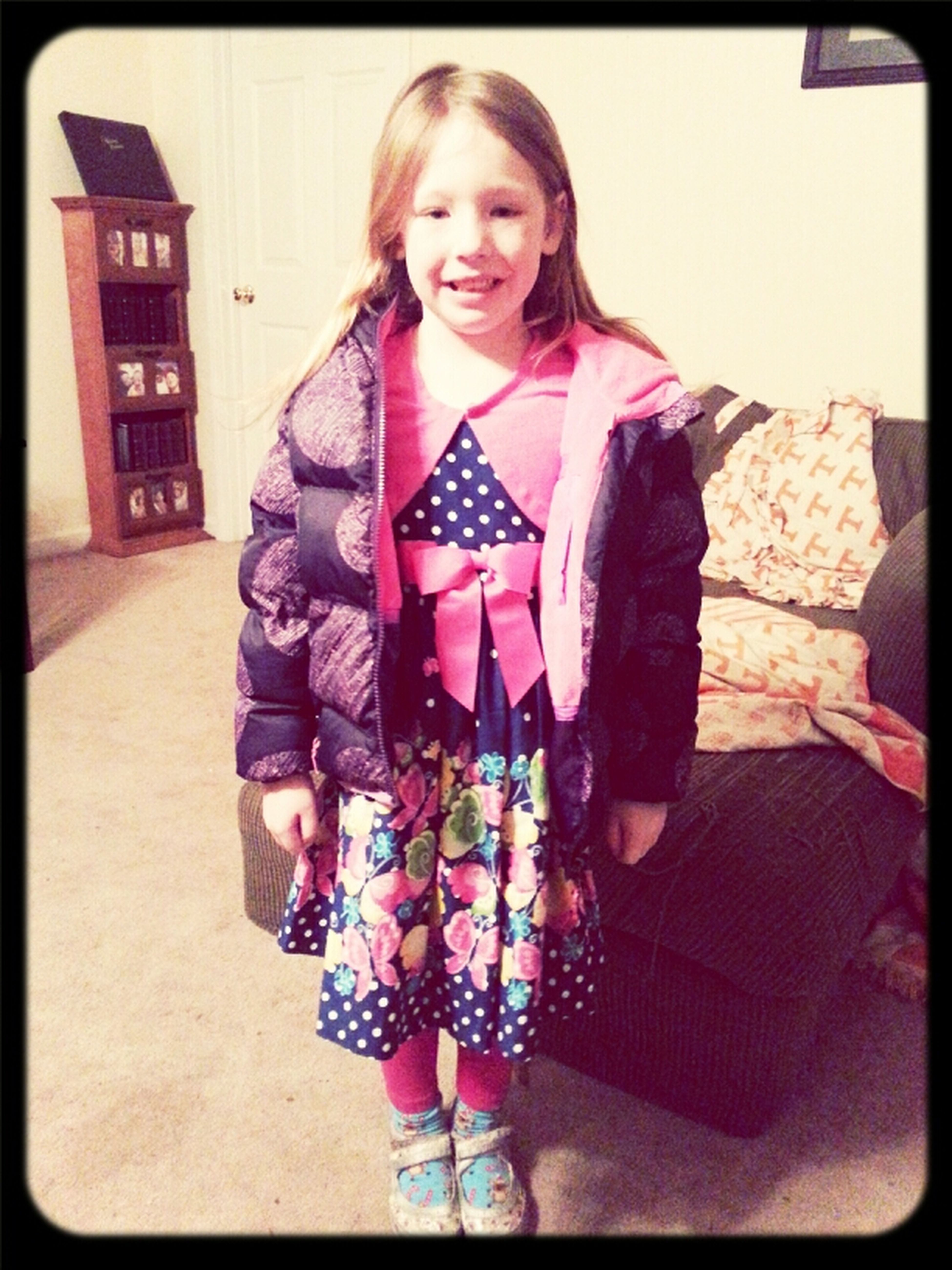 Autumn decided to dress herself for our Dinner night out....Guess she gotnher daddy's fashion sense