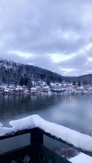 Miles Away Nature Beauty In Nature Mountain Winter Weather Sky Cold Temperature Water Cloud - Sky No People Snow Tranquility Lake Mountain Range Scenics Tranquil Scene Outdoors Architecture Tree Day EyeEmNewHere