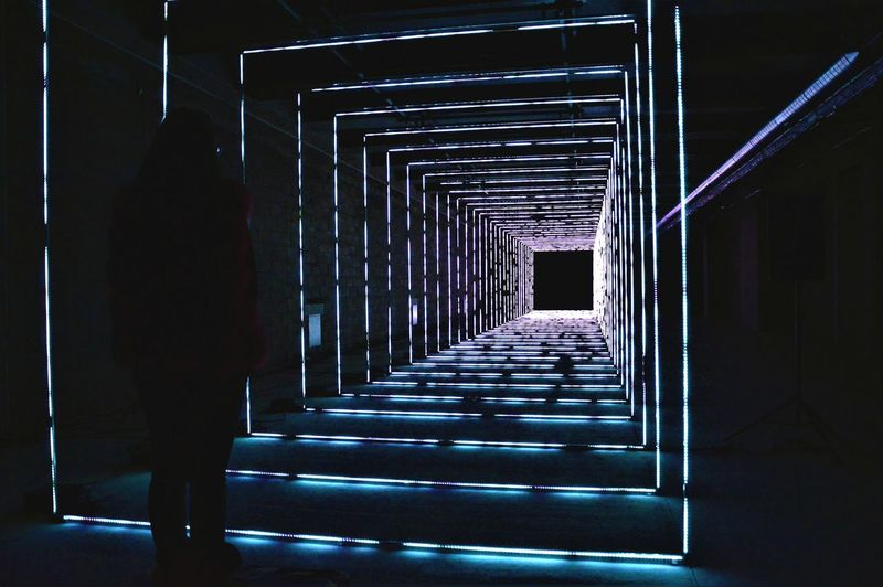 The Way Forward Indoors  Winterlight Festival Lights Lights In The Dark Illuminated Perspective Immagination Parallel Universe Dimensions DifferentDimensionsStudios Canarywharf Canary Wharf LONDON❤ London_only London Londonthroughmycam Lightfestival Londononly Technology Science Uk
