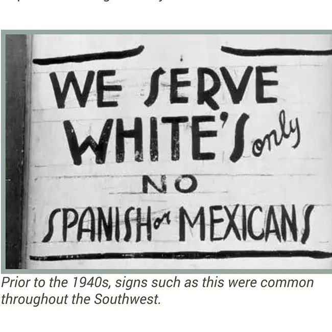 Segregation was not confined to the South in pre-1940s America. HispanicHeritageMonth Segregation  History Californiahistory racism tolerance onestruggle ✊