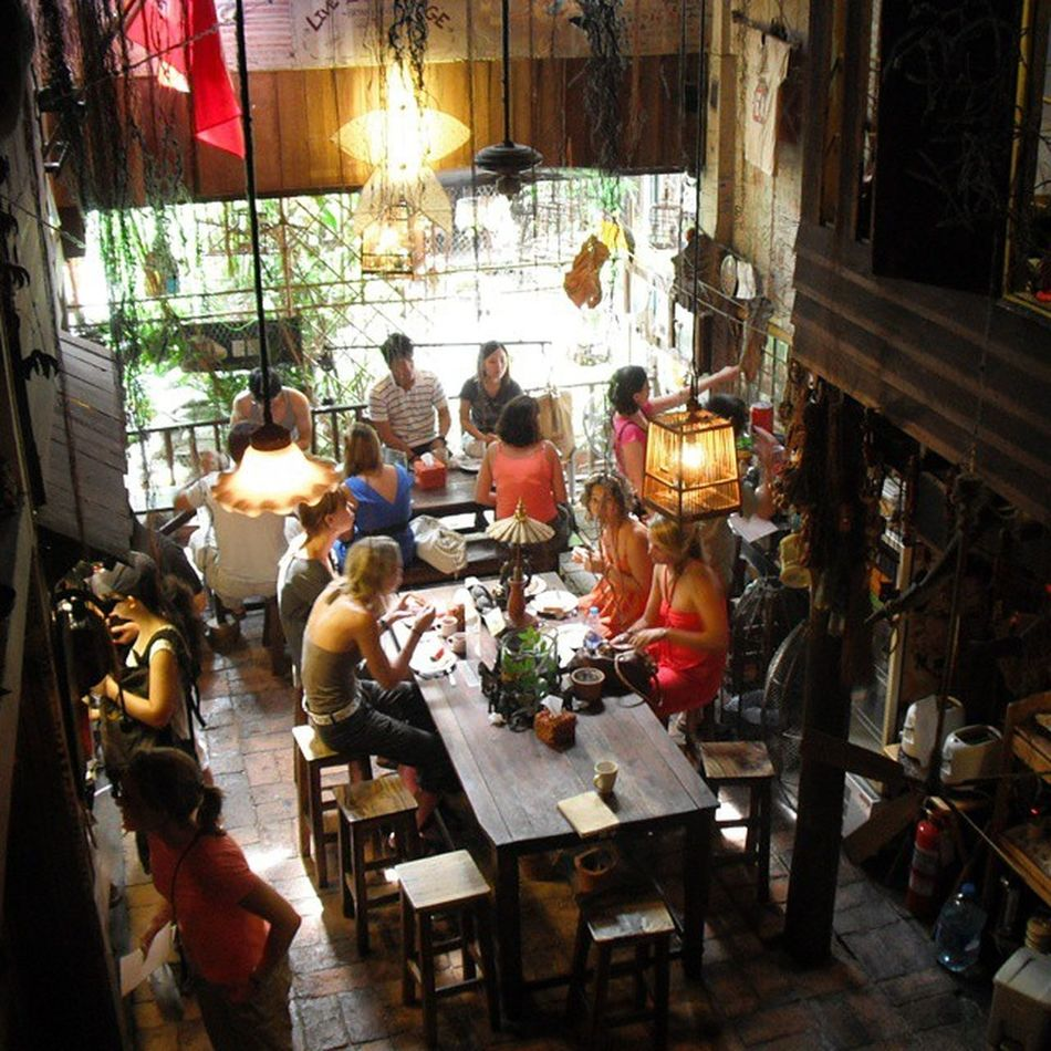 Nope, this is not a restaurant. It's Suk11 , one of Bangkok 's best Hostel for Backpackers Getting up the stairs is a work out, if you have been there, you'd know what I'm talking about. thailand iamalexchan throwback