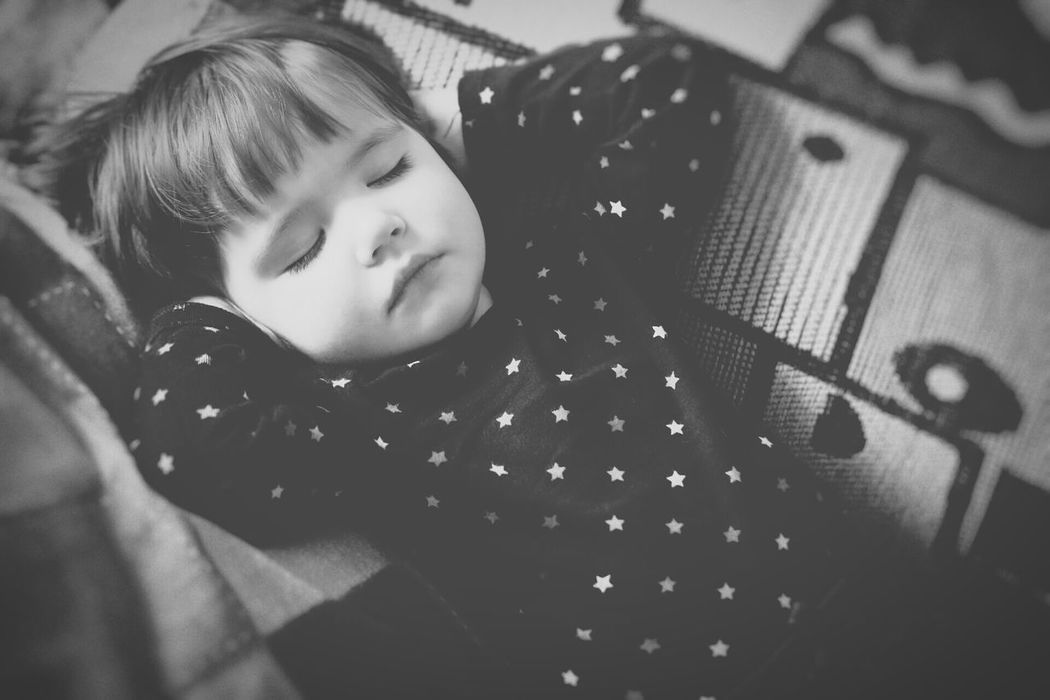 Monochrome Black And White Kid Child Relaxed Relaxing Laying Down Resting Sleeping Portrait Person Small Baby Baby Girl Having Nap Nap Kids Of EyeEm Kids Being Kids Kids Kids Portrait