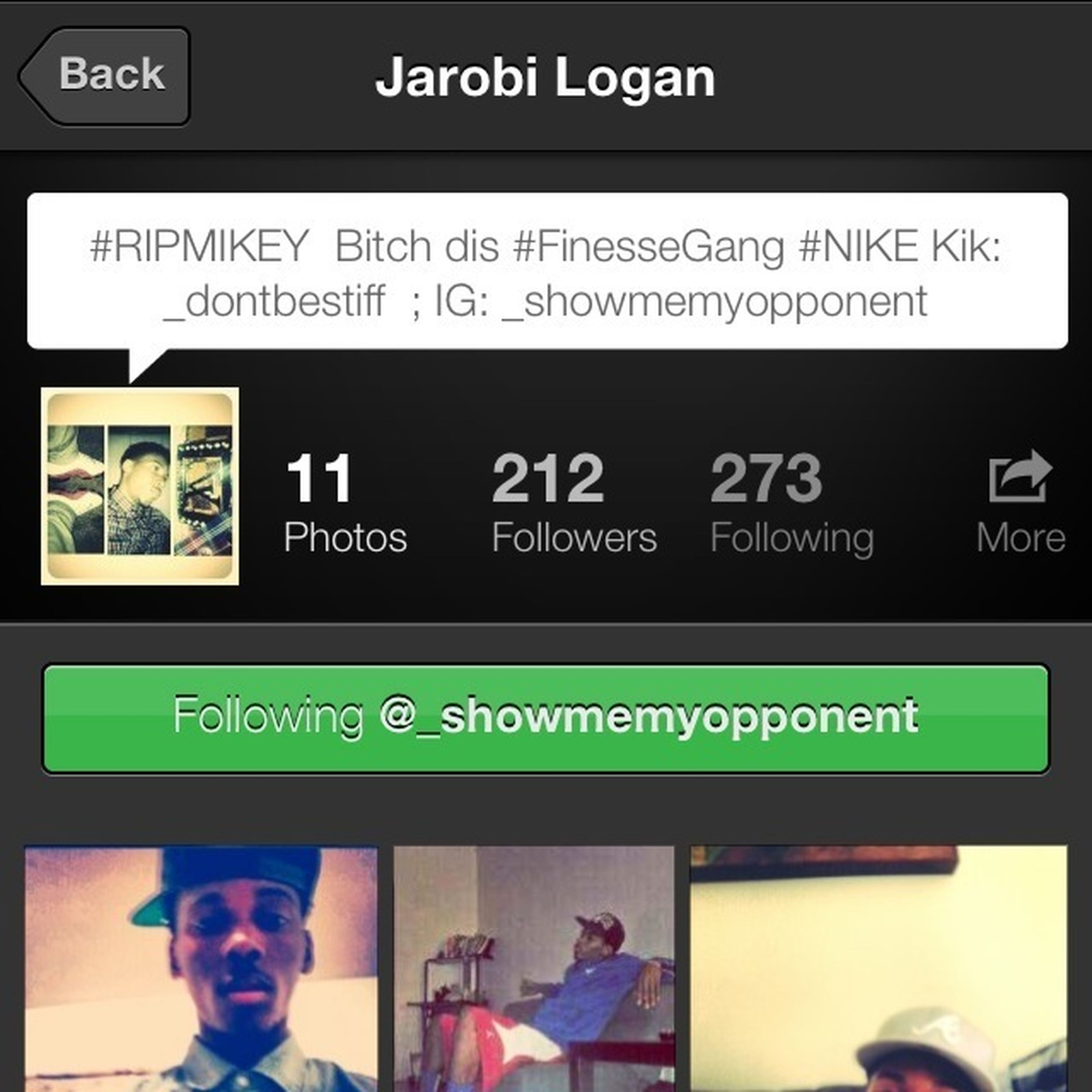 LADIES GO FOLLOW THIS TRILL NIGGA @_showmemyopponent