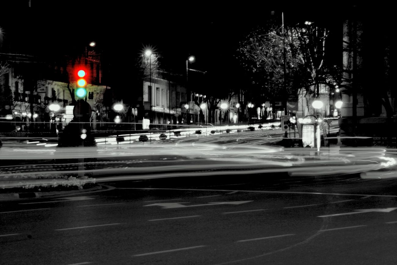 City City Life City Street Electric Light Empty Glowing Illuminated Lighting Equipment Night No People Outdoors Road Sky Street Light The Way Forward Cibeles