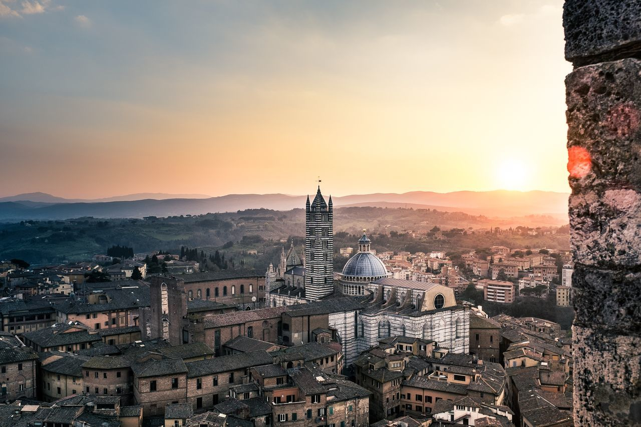 Landscape Siena Italy View From Above Landscapes With WhiteWall