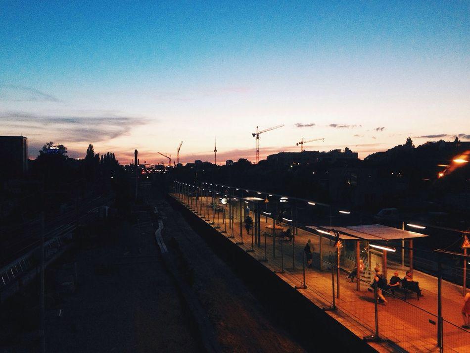 Sunset Silhouettes Summer I ❤ BERLIN Public Transportation