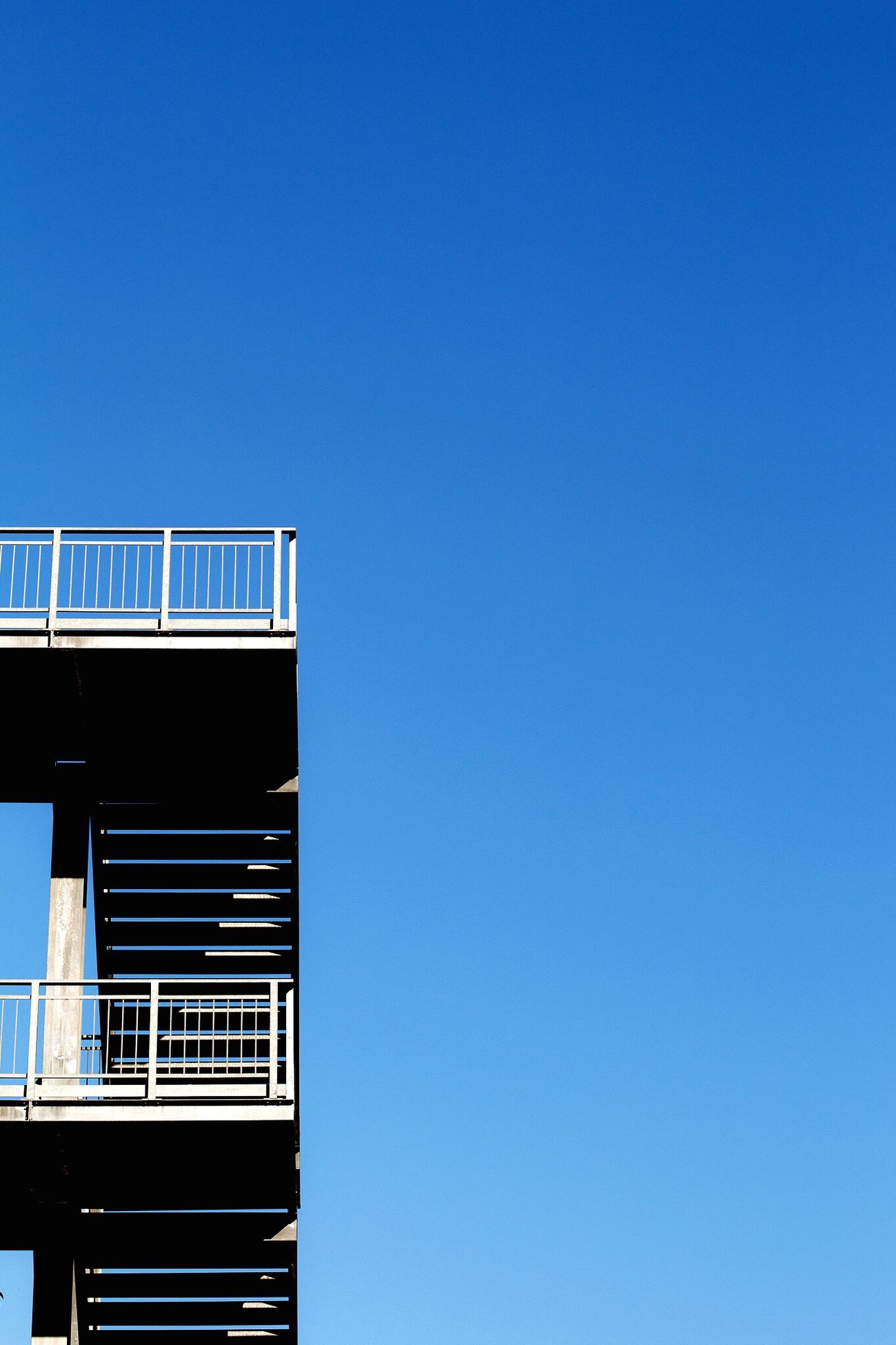 Minimalist Architecture Clear Sky Low Angle View Blue No People