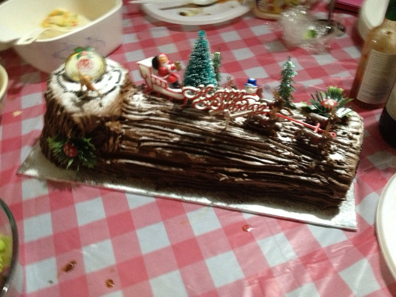 Birthday And Chrismas Cake