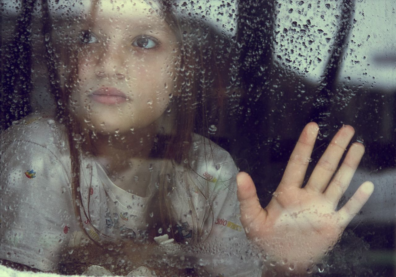 Russia Home One Person Window Looking At Camera Rain Portrait Beauty Looking Through Window Human Body Part RainDrop Human Hand Adult EyeEm Best Shots Young Adult Portraits Childhood Child