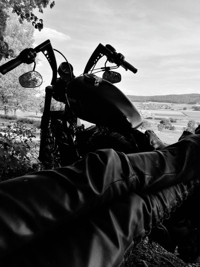 Only Men Adults Only Outdoors One Person Harley Davidson Tranquil Scene