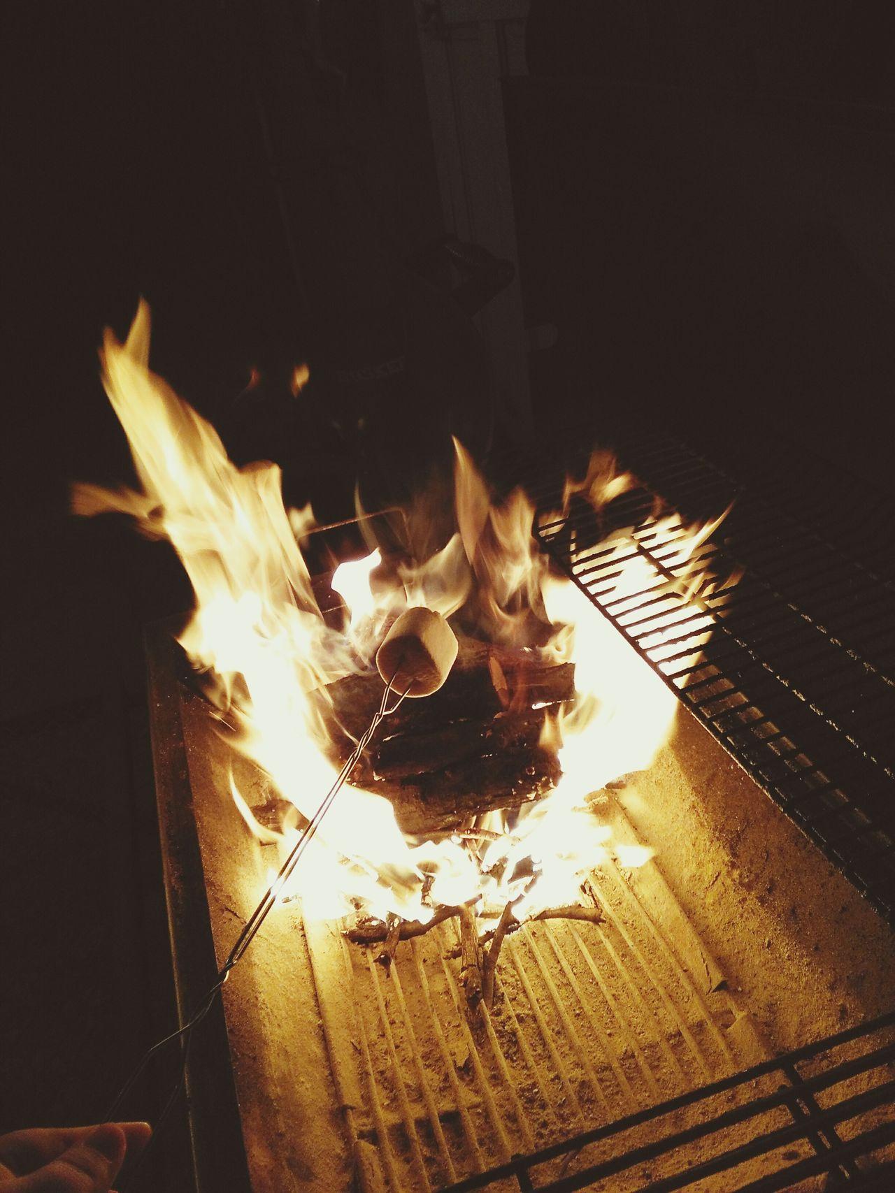 Flame Burning Roasting Marshmallows Fire