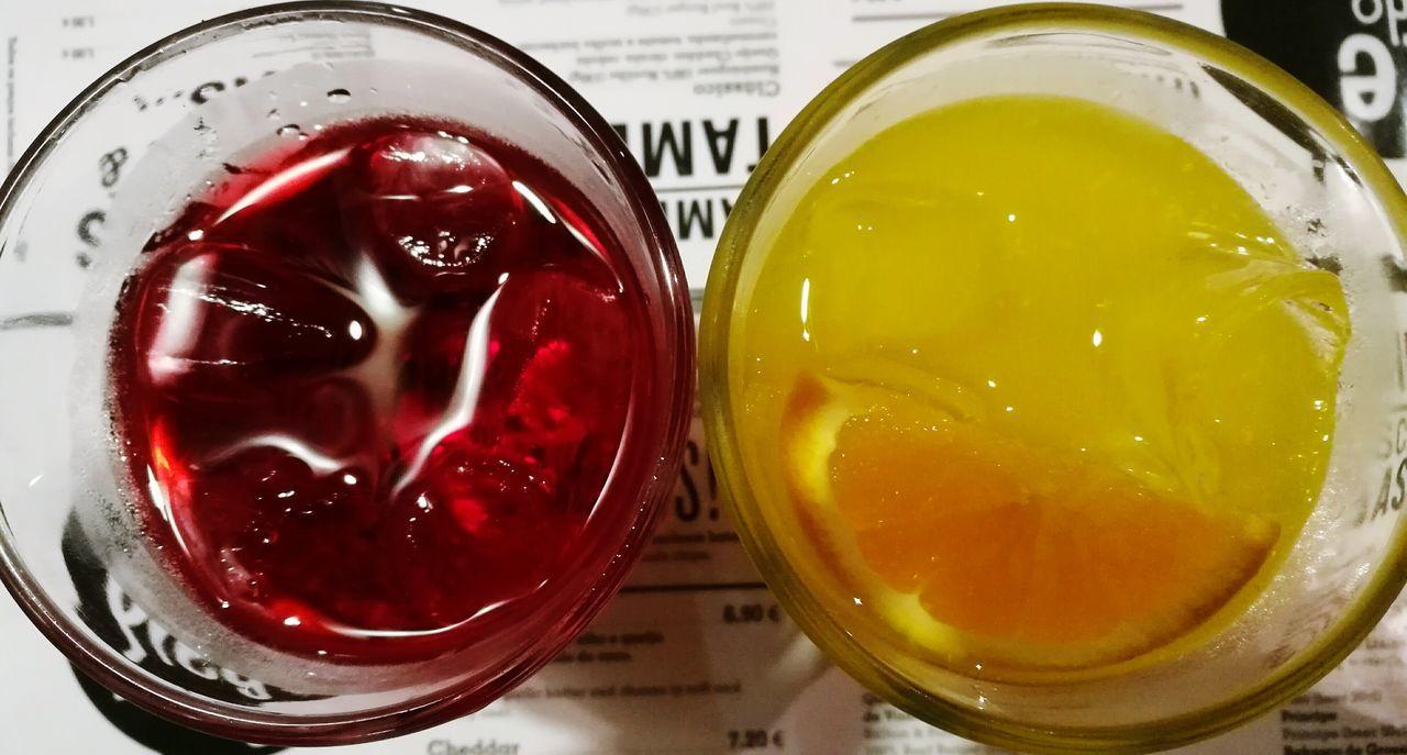 Colours Happy Colours Red Yellow Orange Fruitjuice Orangejuice Gooseberry Gooseberryjuice Drinks Drinking ShareTheMeal