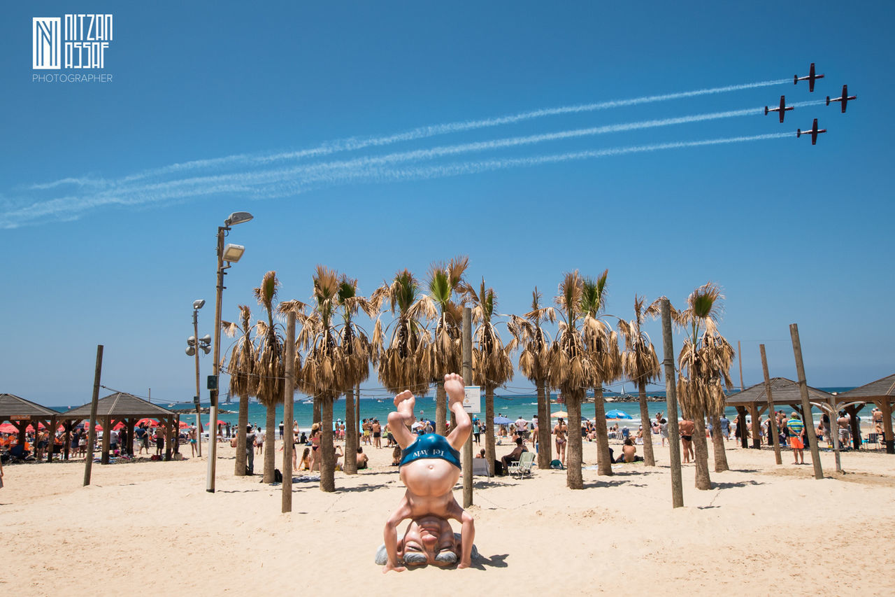 Airplane Beach Fun Israel Plane Sand Sea Sky Tel Aviv Tel Aviv Beach Tourism Vacations