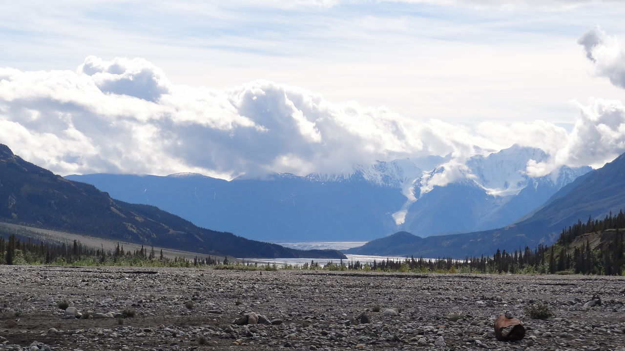 Beauty In Nature Canada Cloud - Sky Day Kluane National Park & Reserve Landscape Mountain Mountain Range Nature No People Outdoors Scenics Sky Tranquility Yukon