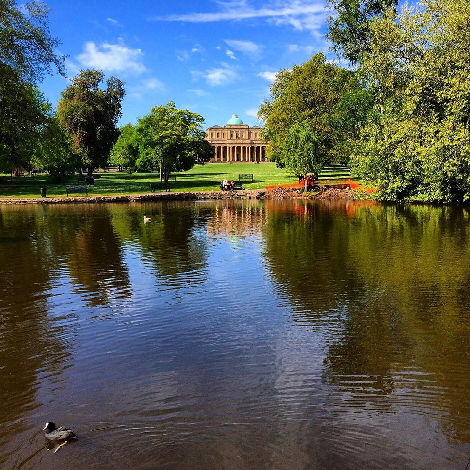 Pump Room Lake Pond Pittville Cheltenham Duck Sightseeing Nature Landscape Reflection