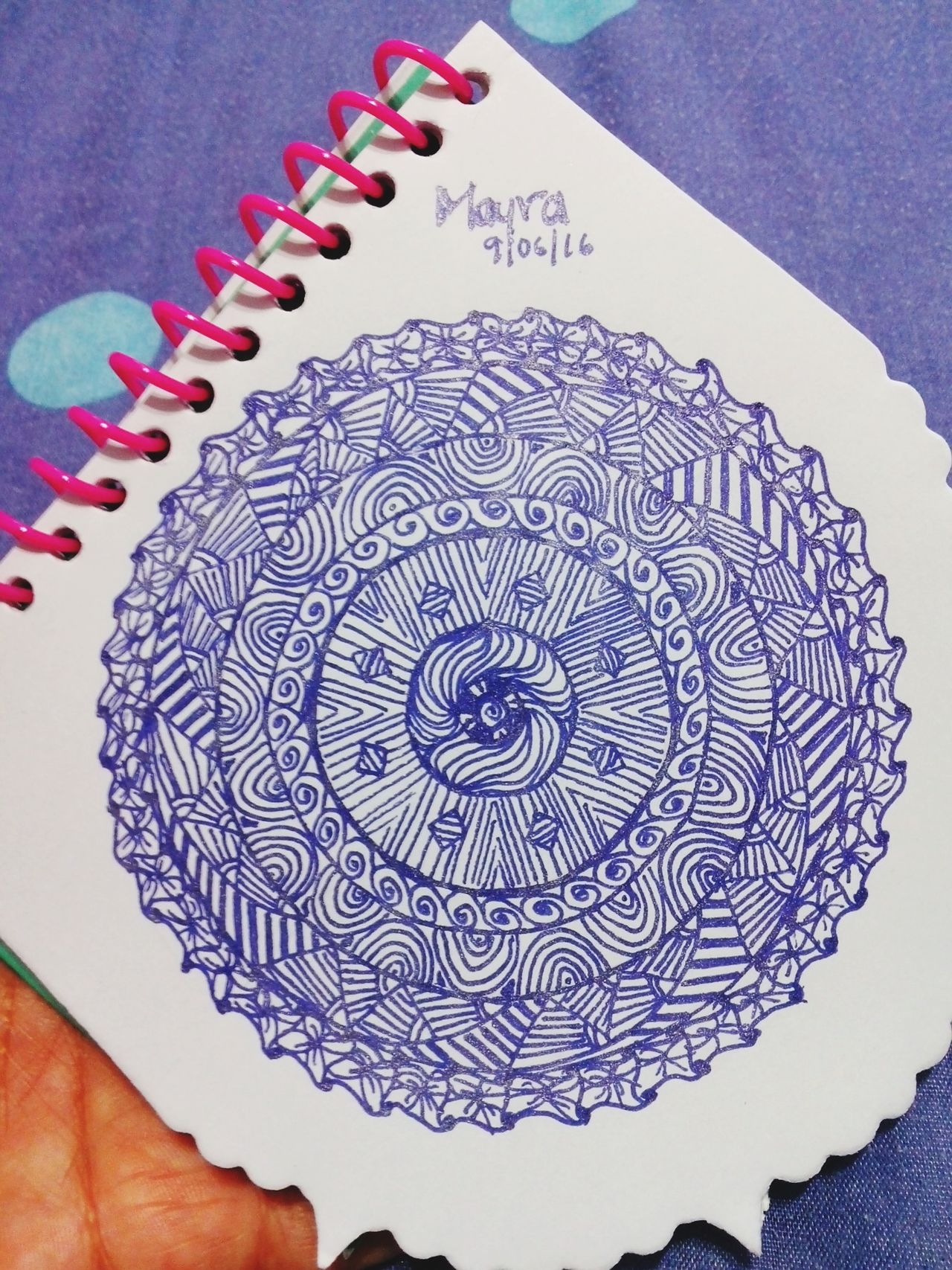 Zentangle Zentangleart Mandala Purple Favorite Color Inspired Creative Peaceful Moment Taking Photos Drawing ✏ Draw