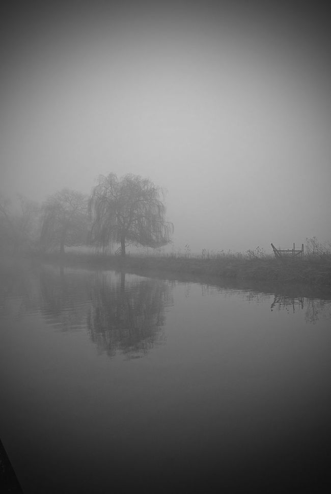 River Mist Misty Morning Misty Foggy Fine Art Photography Fine Art BW Landscape BW Collection Monochrome Monochromatic Minimalist Riverside River View TreePorn Tranquility No People Peace And Quiet Peaceful Landscape Beautiful Nature Northamptonshire Water Reflections Tree And River Blackandwhite
