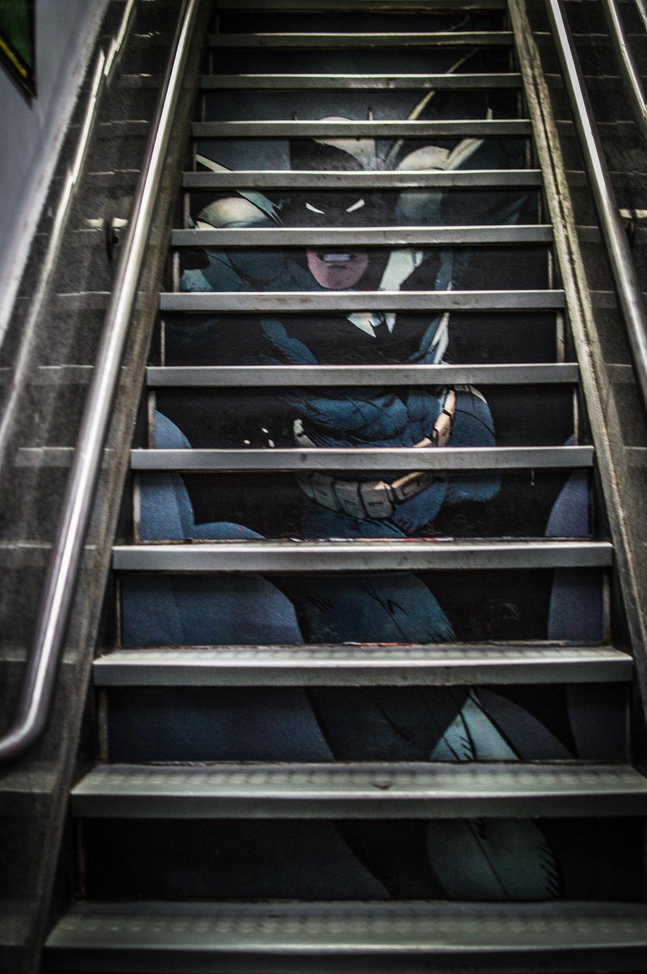 Batman Brucewayne Comics DC DC Comics DC Comics Superheroes Manhattan New York No People Railing Staircase Steps Superheroes