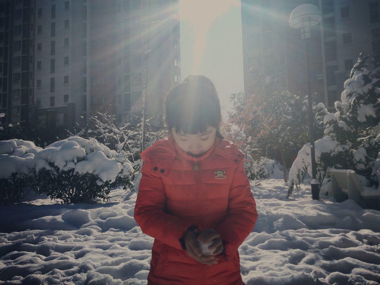 2015的冬天 一场大雪 First Eyeem Photo My Sister IPhone Take Photo