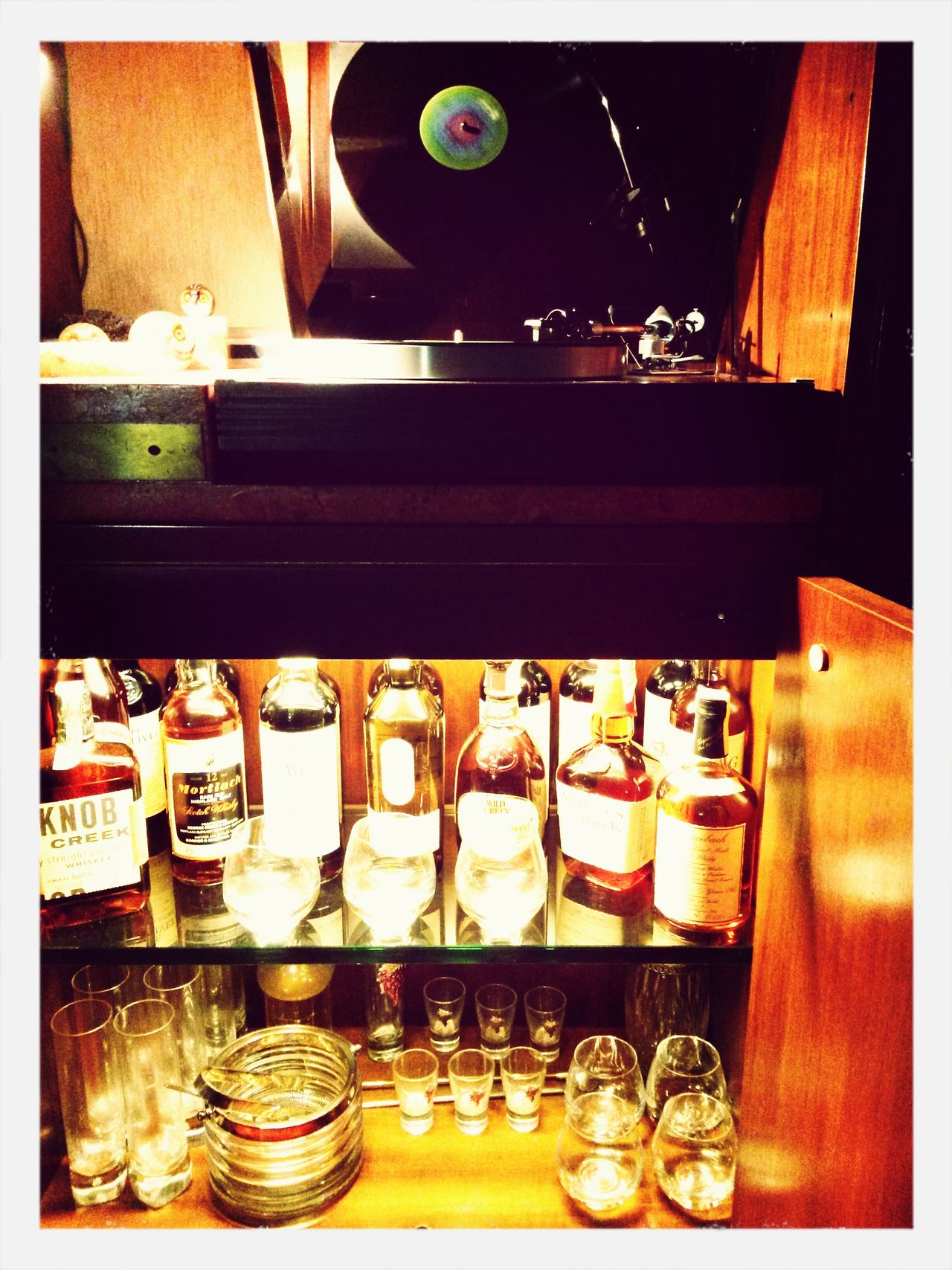 Music and drink 33 Rpm Record Vinile Whyskey Drinks And Bottles